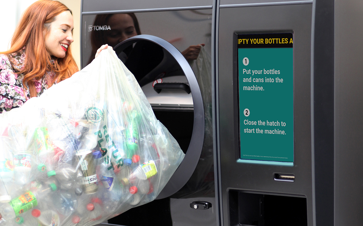 Tomra speeds up recycling with new reverse vending machine
