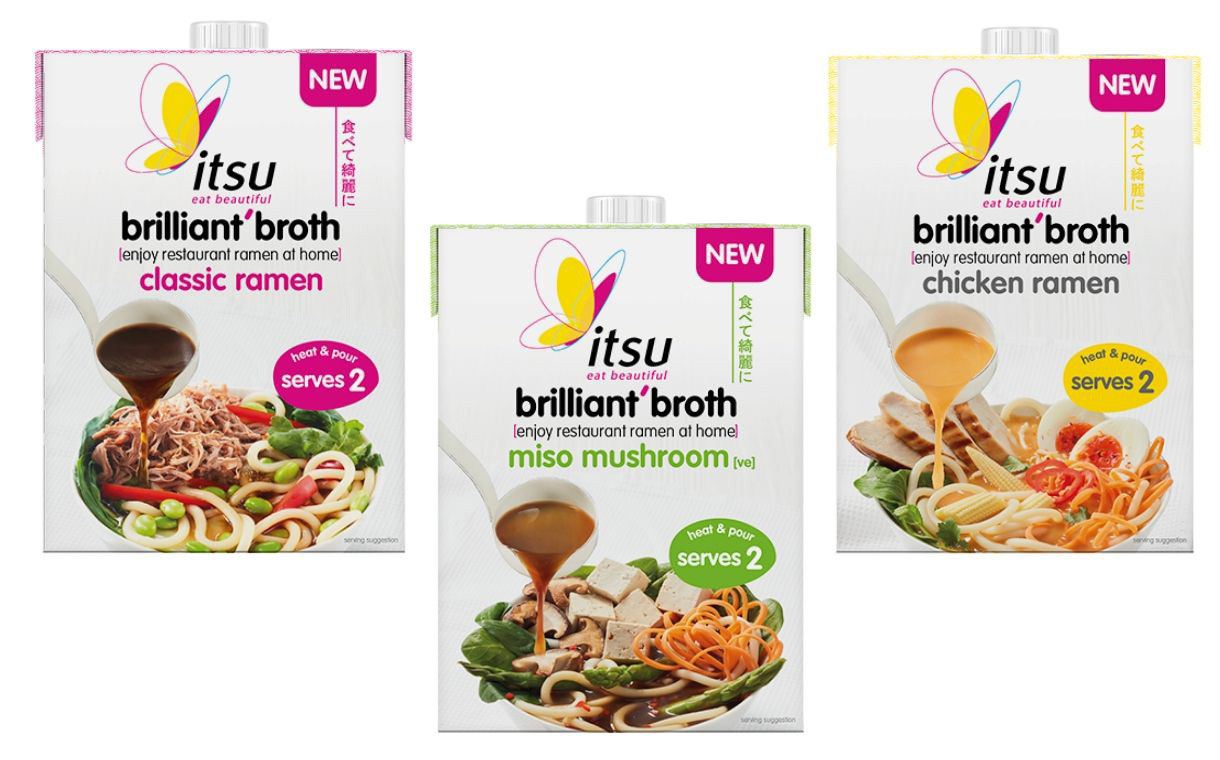Itsu releases range of broth cartons to make ramen