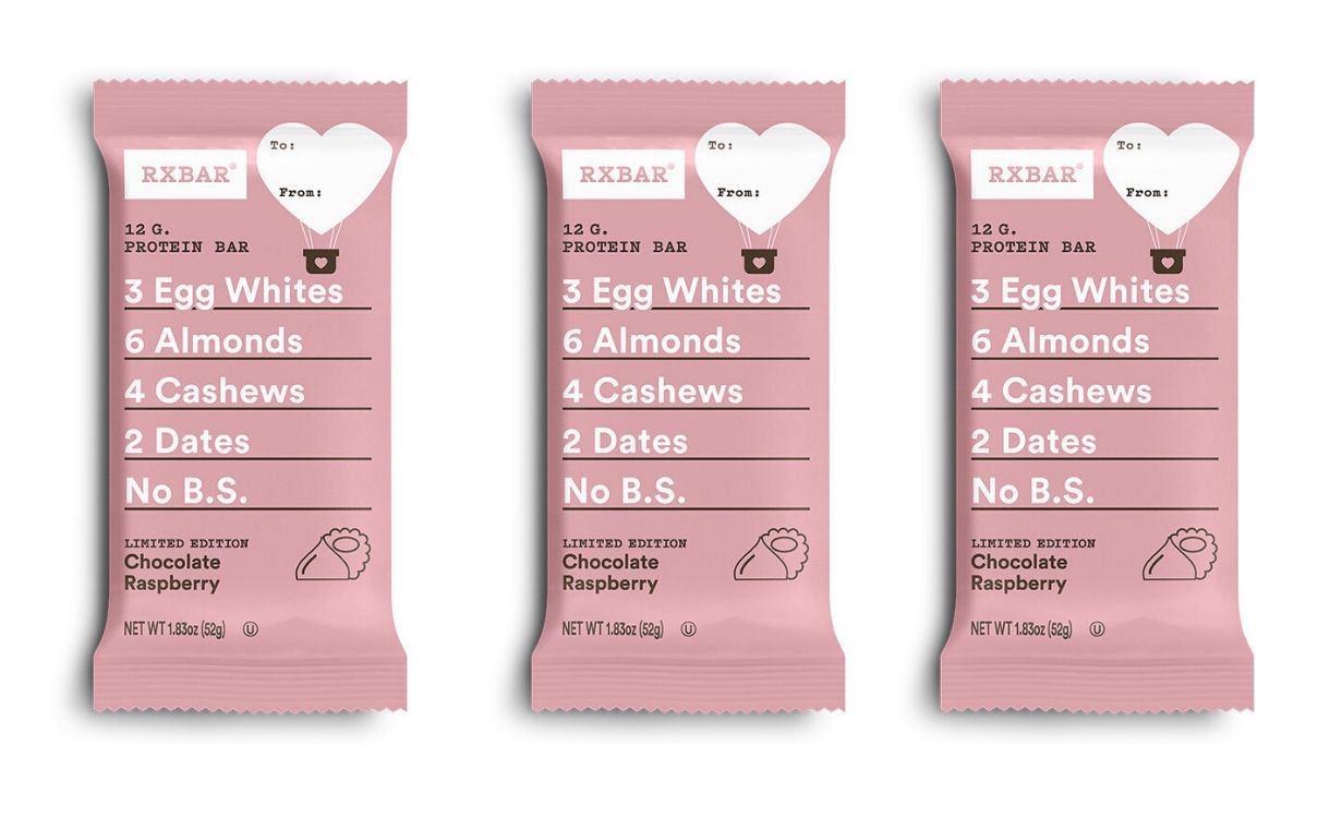 Rxbar unveils chocolate raspberry Valentine's edition bar
