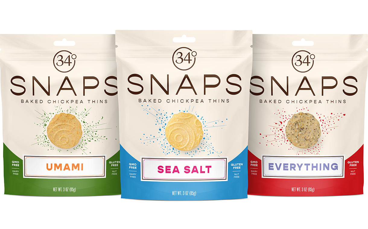 34 Degrees to launch baked chickpea snacking thins range