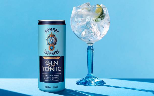 Bacardi releases ready-to-drink Bombay Sapphire gin and tonic