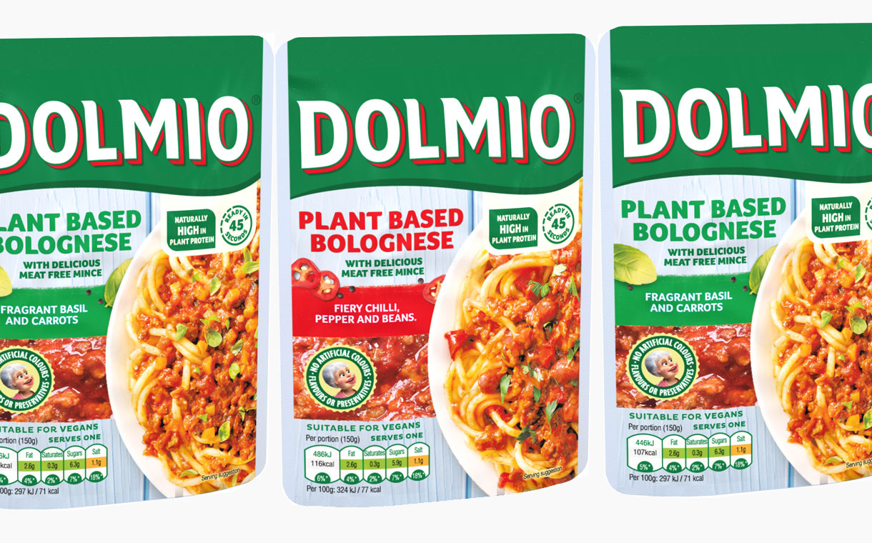 Dolmio launches plant-based bolognese sauce pouches in the UK