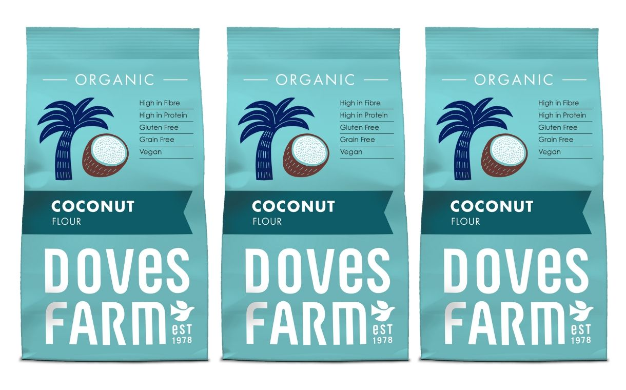 Doves Farm unveils a new look and organic coconut flour