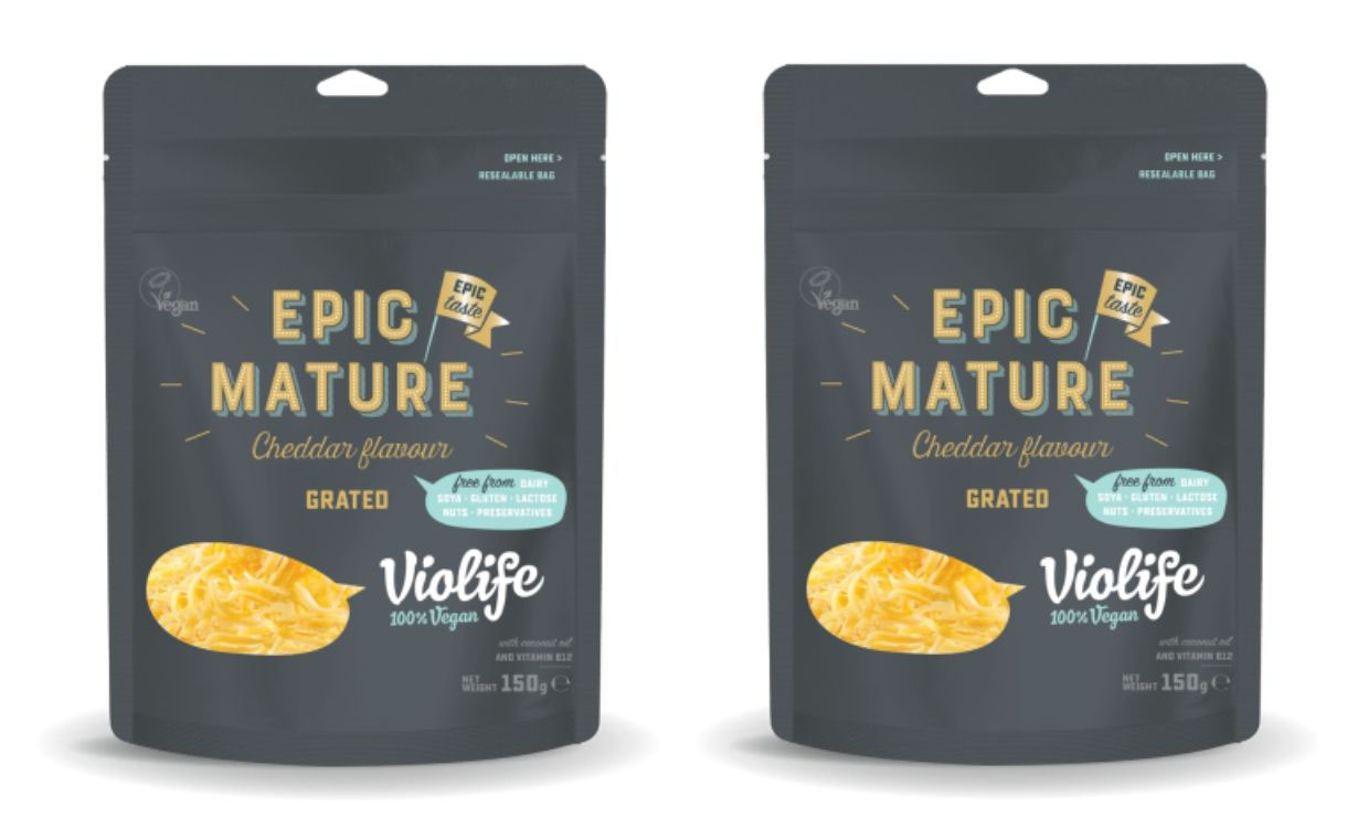 Violife to launch grated version of mature cheddar flavour in UK