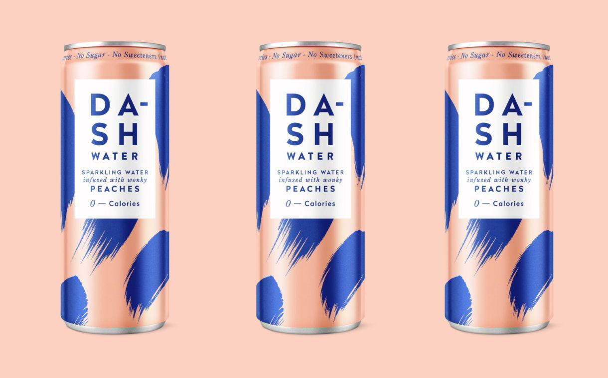 Dash Water releases sparkling water made with wonky peaches