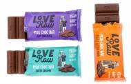 LoveRaw debuts M:lk Choc Bar range
