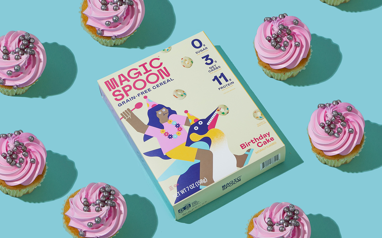 Awe Inspiring Magic Spoon Debuts Limited Edition Birthday Cake Cereal Foodbev Funny Birthday Cards Online Alyptdamsfinfo