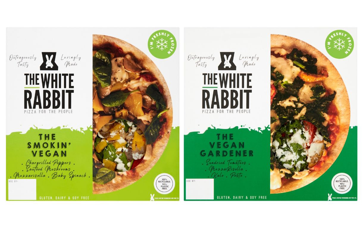 The White Rabbit enters frozen aisle with plant-based pizzas