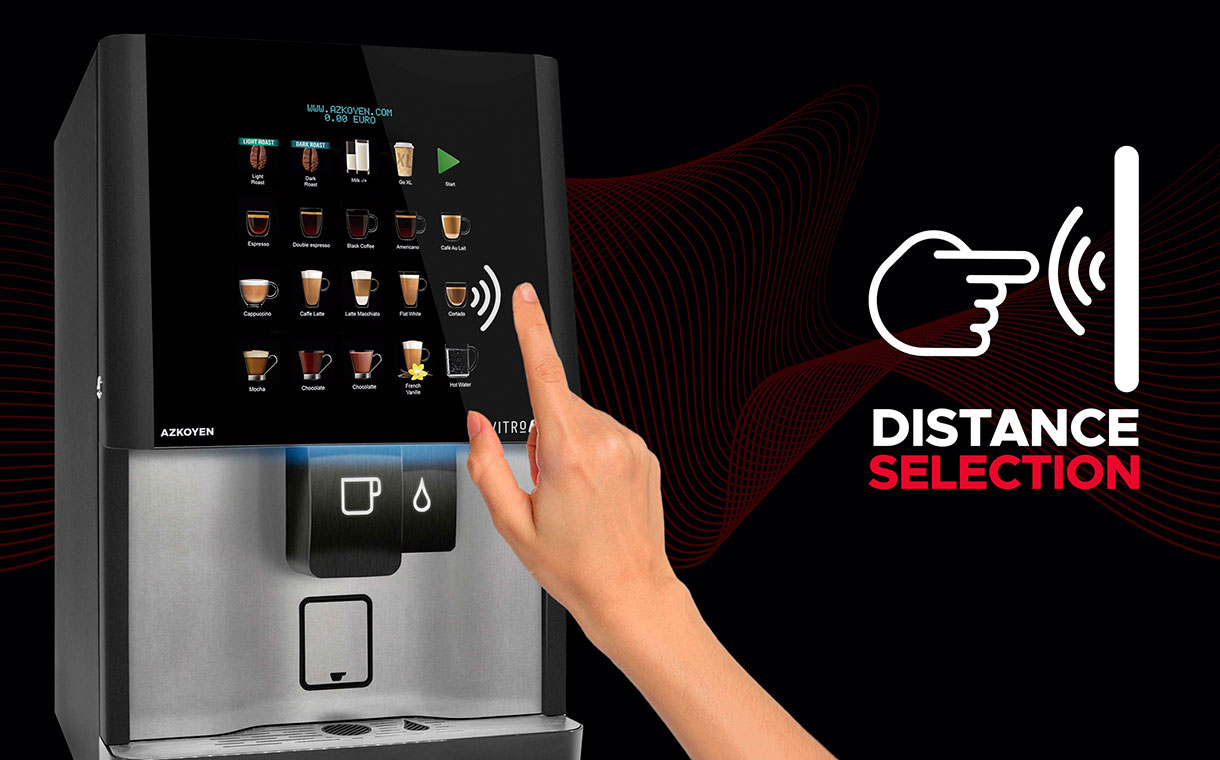 Azkoyen develops contactless Distance Selection Technology for vending