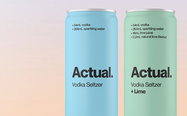 Carlton & United Breweries launches Actual hard seltzer