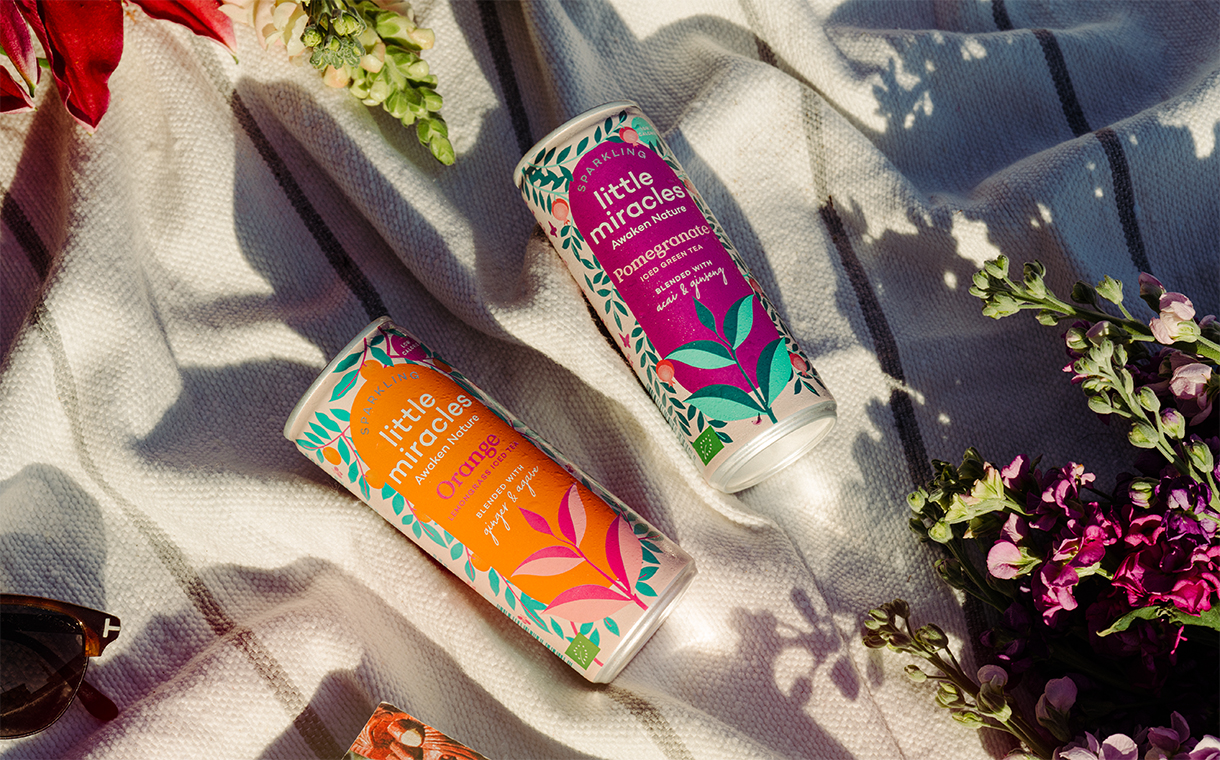 Little Miracles debuts organic sparkling ice tea in two flavours