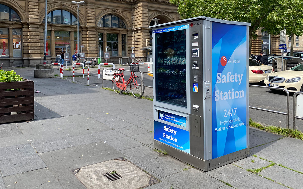 Selecta launches Safety Station vending machines across Europe
