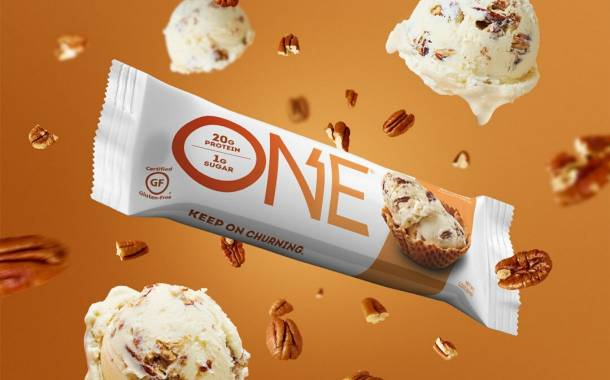 One Brands debuts ice cream-inspired Butter Pecan protein bar
