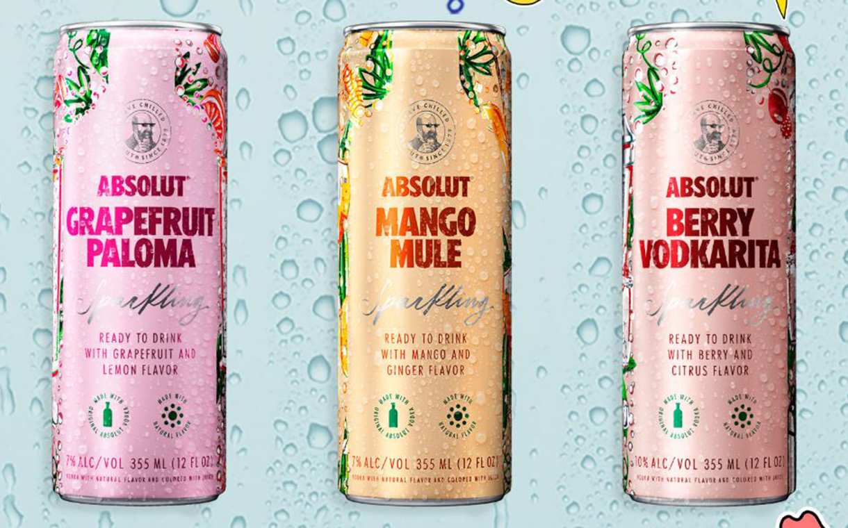 Absolut unveils line of RTD vodka sodas and cocktails