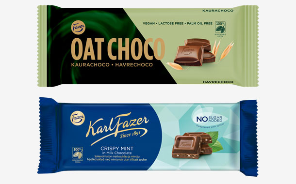 Fazer to release plant-based and no-added-sugar chocolate bars