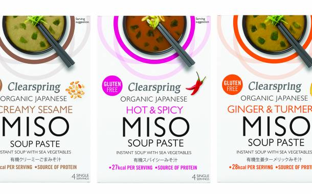 Clearspring adds three new flavours to its miso soup offering