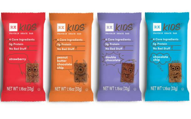 Rxbar releases reformulated RX Kids protein bar range