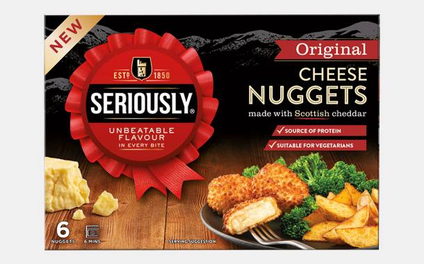 Seriously debuts cheese nuggets and begins packaging refresh