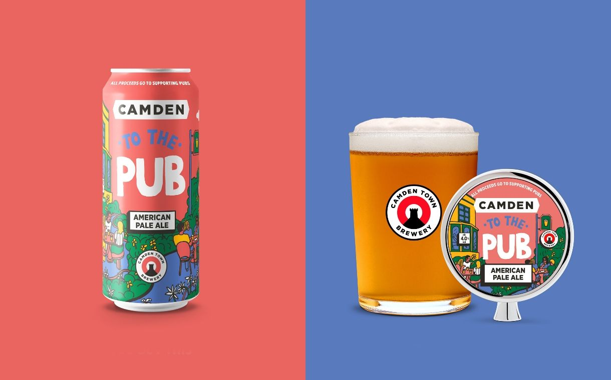 Camden Town Brewery unveils new beer to support UK pubs