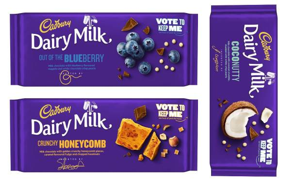 Cadbury debuts three limited-edition Dairy Milk chocolate bars