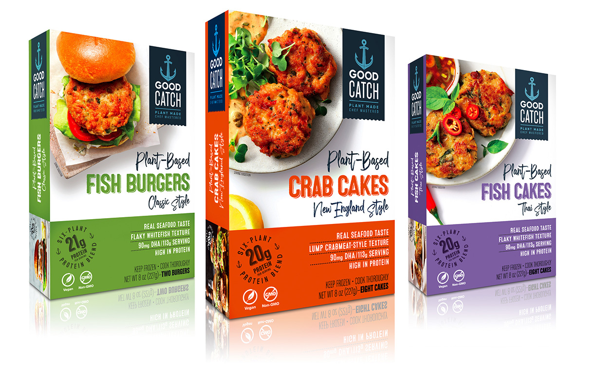 Good Catch introduces frozen plant-based seafood line in US