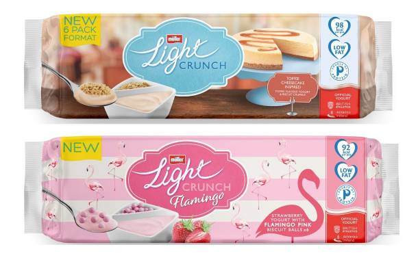 Müller launches new split pot range Müllerlight Crunch