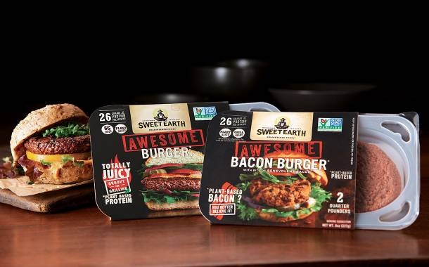 Sweet Earth debuts plant-based Awesome Bacon Burger