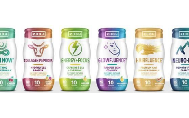 Zhou Nutrition launches functional Water Enhancers