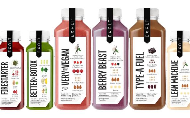 Exalt debuts range of meal replacements and juices in UK
