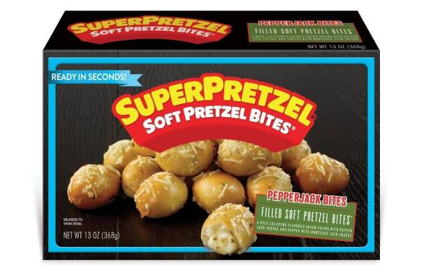 J&J Snack Foods debuts Superpretzel Filled Soft Pretzel Bites