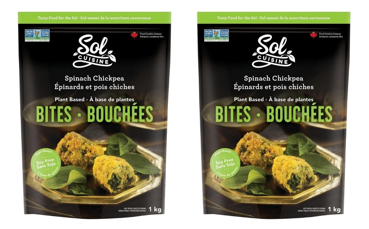 Sol Cuisine launches Spinach Chickpea Bites in Canada