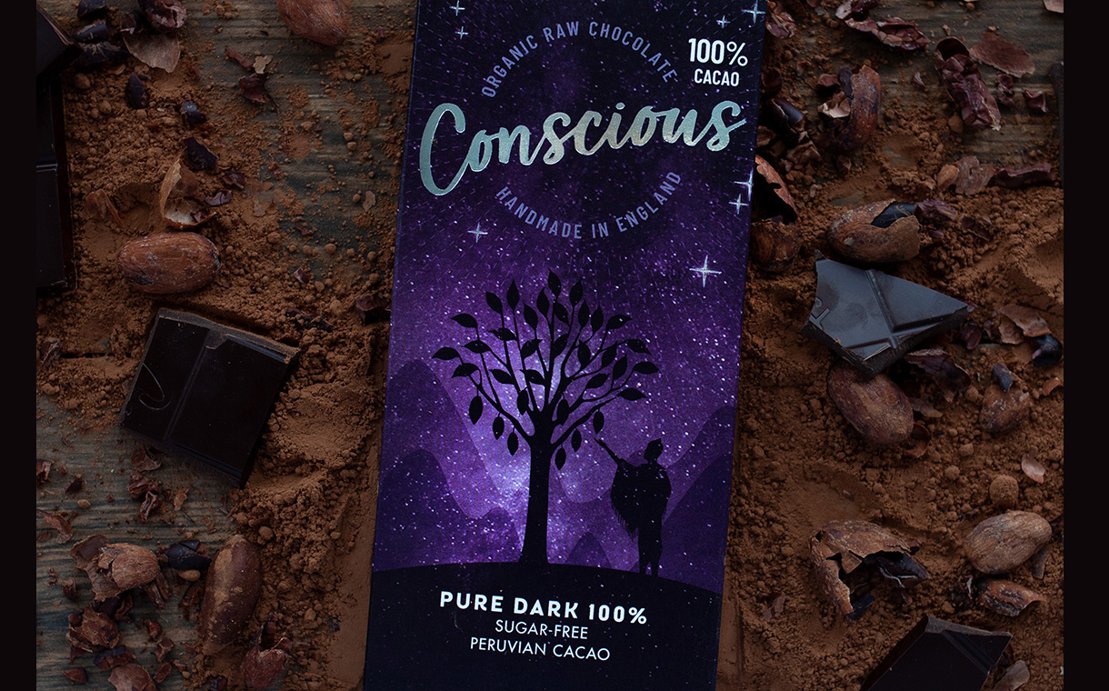 Conscious Chocolate launches 100% cacao bar in UK