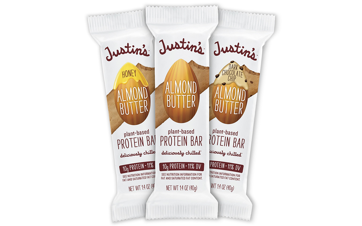 Justin's debuts Refrigerated Almond Butter Protein Bars