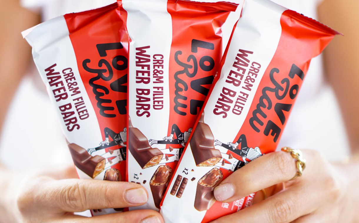 LoveRaw debuts vegan Cre&m Filled Wafer Bars