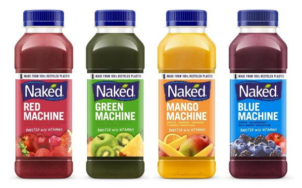 Naked Juice rolls out new recycled plastic bottles across UK
