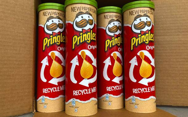 Kellogg's Pringles brand unveils paper can trial in the UK