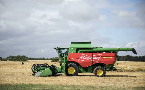 Budweiser UK sources 100% of its barley from British farms