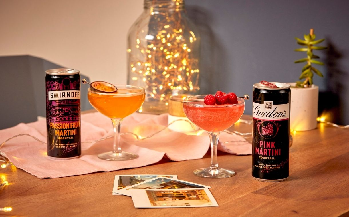 Diageo expands RTD offering with new Smirnoff and Gordon's martinis