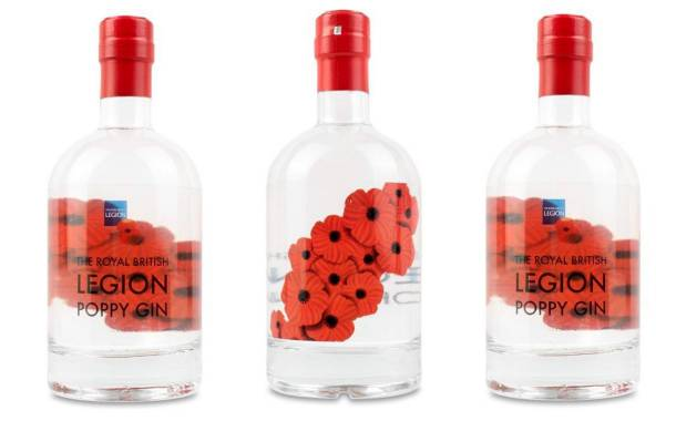 The Royal British Legion Poppy Gin in honour of war heroes