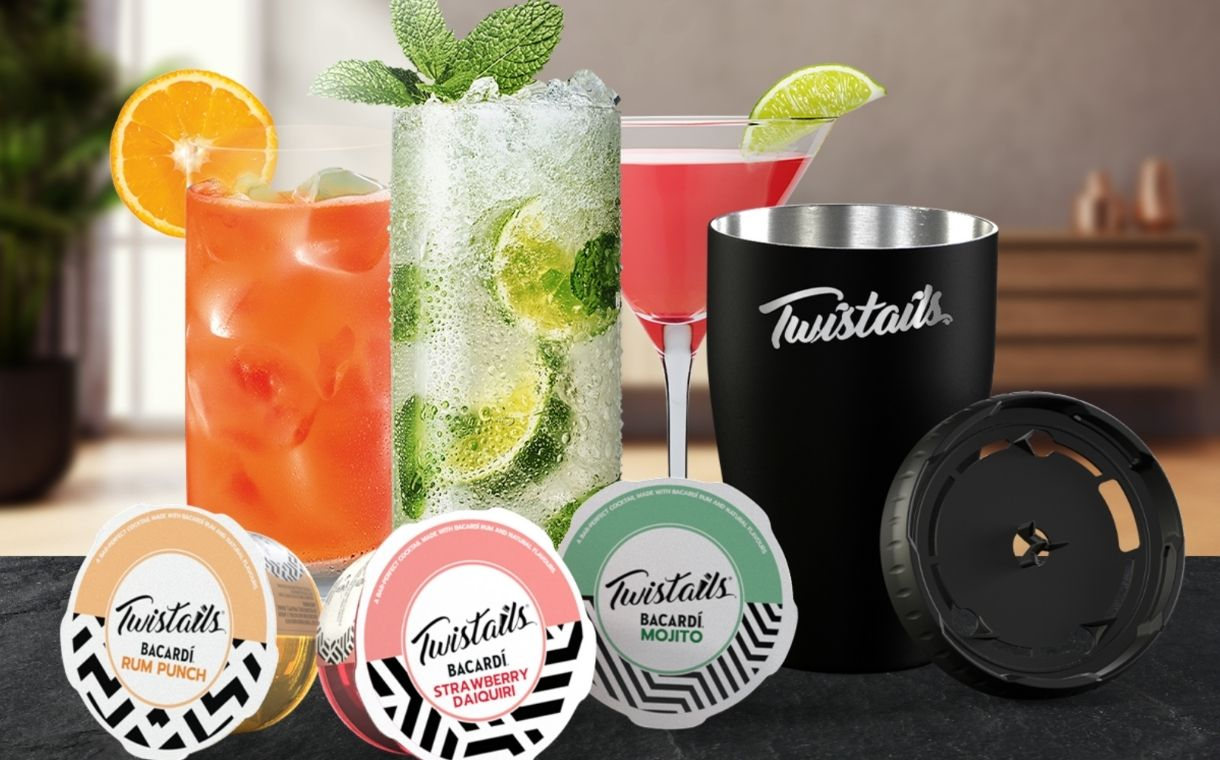 Bacardi unveils Twistails pods for at-home cocktail making