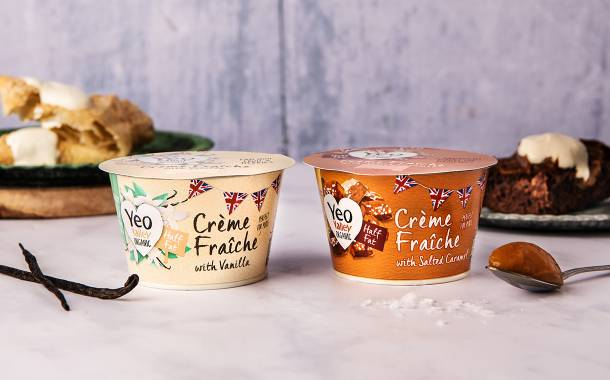 Yeo Valley introduces new sweet flavoured crème fraîche