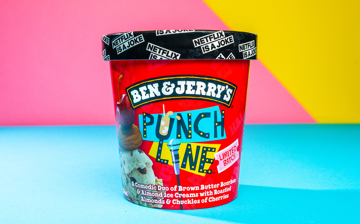 Ben & Jerry's launches limited-edition Punch Line flavour