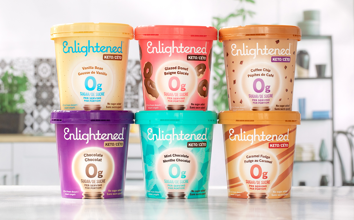Enlightened enters Canada with exclusive ice cream line-up