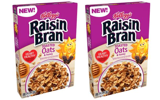 Kellogg expands Raisin Bran range with Toasted Oats and Honey cereal