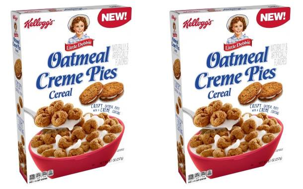 Kellogg debuts Little Debbie Oatmeal Creme Pies Cereal