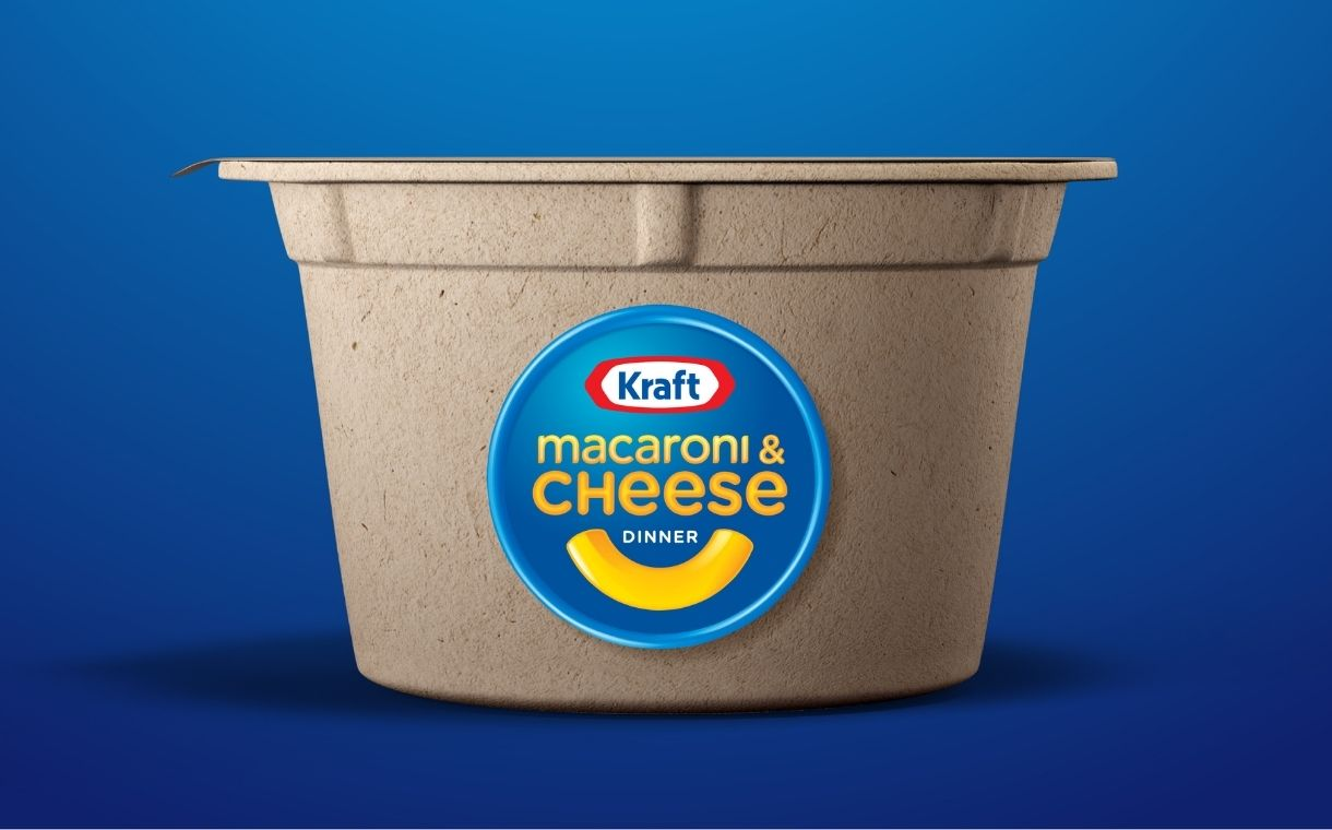 Kraft Mac & Cheese trials recyclable fibre-based microwavable cup