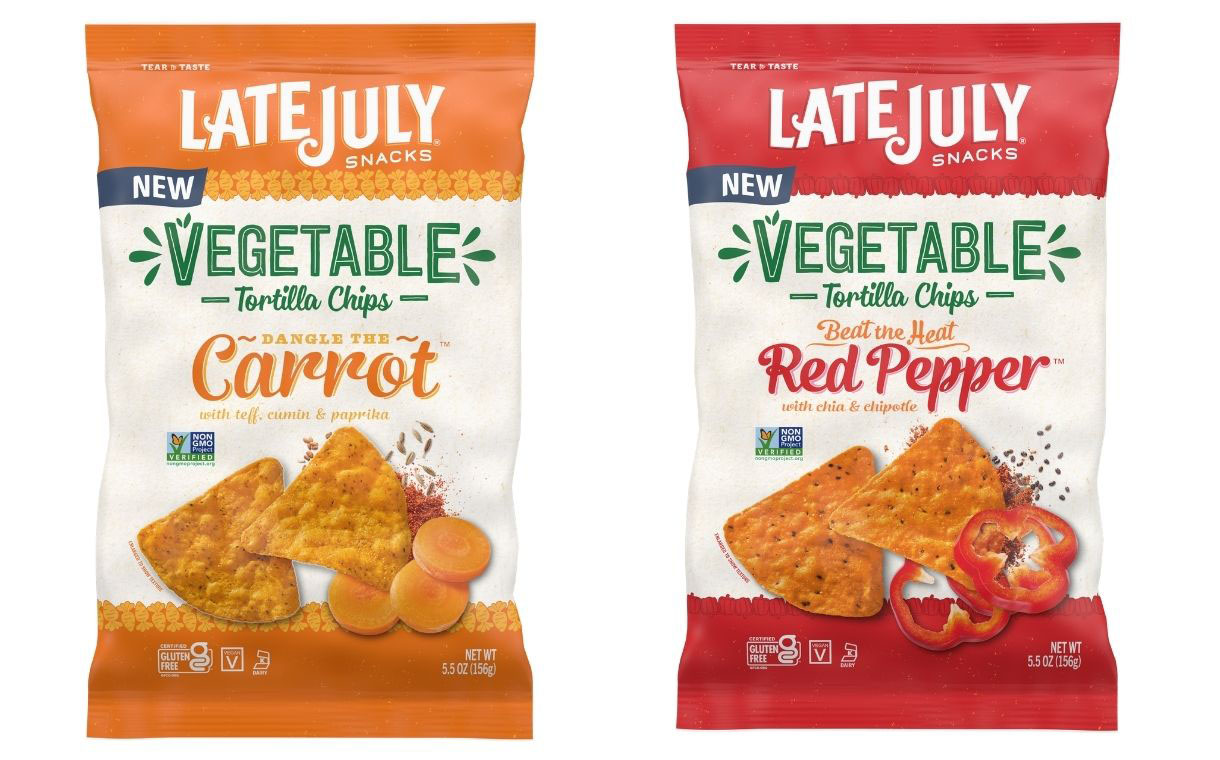 Late July launches new vegetable tortilla chips in US