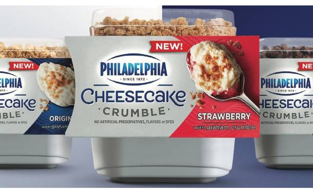 Philadelphia unveils range of Cheesecake Crumble single-serve cups