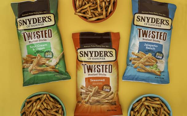 Snyder's of Hanover debuts new Twisted Pretzel Sticks flavours