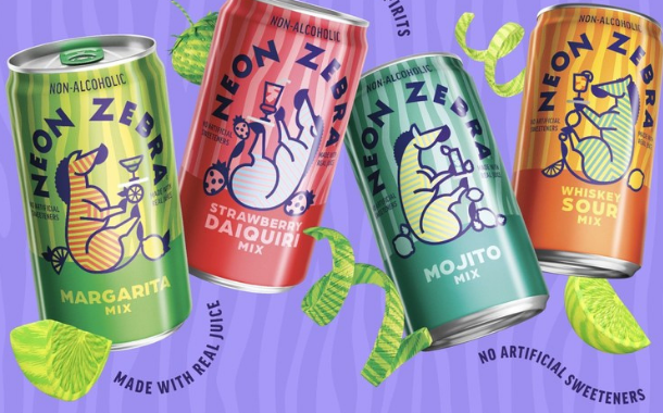 PepsiCo launches Neon Zebra canned cocktail mixers